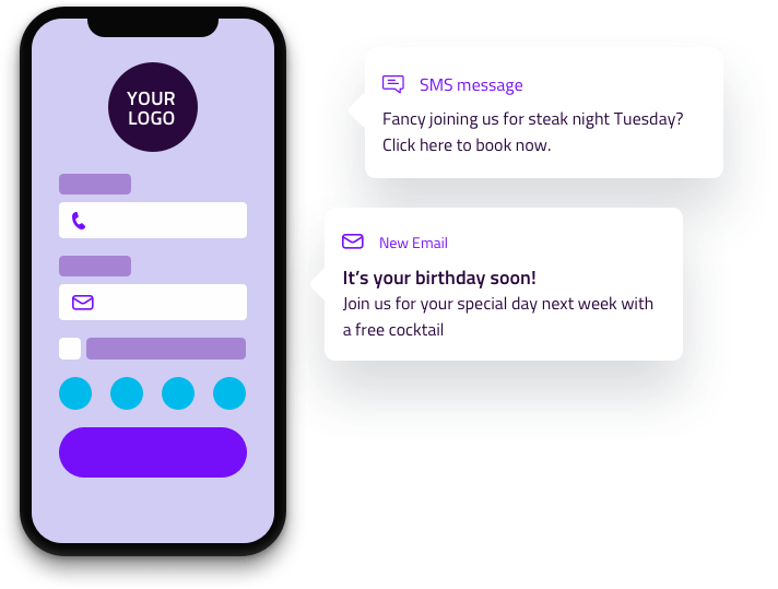 Splash page for wifi messaging